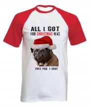 Funny Unisex Pug Christmas T-Shirt