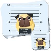 Bad Pug Place Mat & Coaster Set Of 4