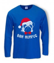 Mens Bah Hum Pug Long Sleeved Christmas T-Shirt (Available in 4 colours)