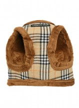 Urban Pup Beige Checked Step In Fleece Lined Jacket Harness