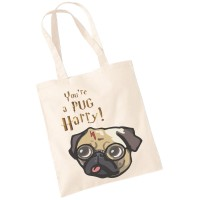 Harry Potter Pug Tote Bag (Available in 3 colours)