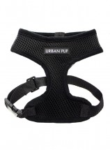 Urban Pup Plain Black Harness