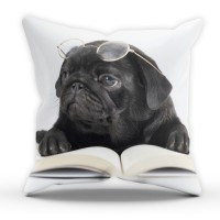 Black Pug Cushion