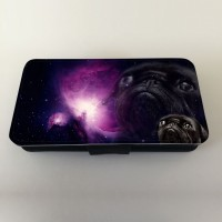 Black Pug In Space Phone Case For Various Models