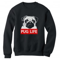 Unisex Black Pug Life Sweater