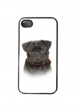 Black Pug Phone Cover (For various models )