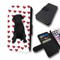 Black Pug Love Hearts Apple IPhone & Samsung Galaxy Phones
