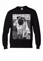 Funny Pug Unisex Sweater (Available in 3 colours)