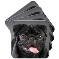 Black Pug Coasters (Available in two designs)