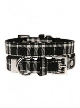 Urban Pup Black Tartan Collar