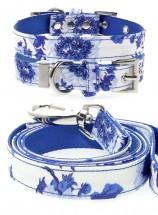 Urban Pup Blue Floral Bouquet Collar & Lead Set