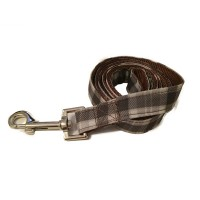Brown & Grey Checked Wagytail Lead