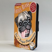 Pug Coffee Poster Phone Case (For Various Models)