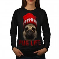 Ladies Long Sleeved Pug Sweatshirt