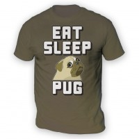 Mens Eat Sleep Pug T-Shirt (Available in 12 colours)