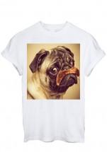 Pug Hairy Mush Unisex T-Shirt