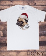 Mens Pug HoHo Christmas T-Shirt