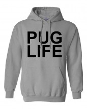 Pug Life Printed Hoodie (Available in 5 colours)