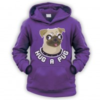 Kids Hug A Pug Hoodie  (Available in 9 colours)