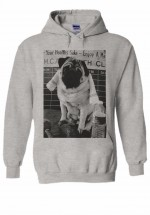 Funny Pug Unisex Hoodie  (Available in 3 colours)