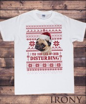 Mens Funny Christmas Pug T-Shirt