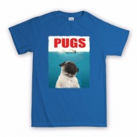 Unisex Jaws Pug T-Shirt (Available in 12 colours)