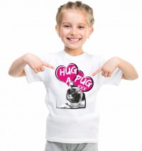 Kids Hug A Pug T-Shirt