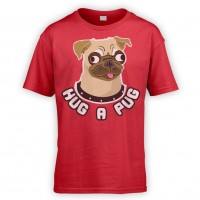 Kids Hug A Pug T-Shirt (Available in 10 colours)