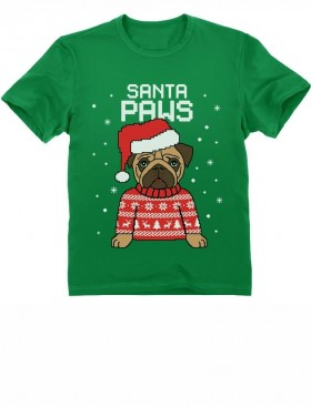 Kids Santa Paws Christmas T-Shirt (Available in 8 colours)