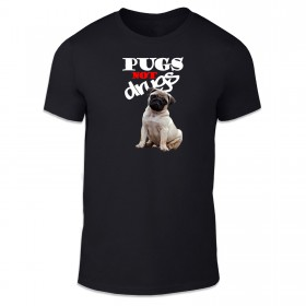 Kids Pugs Not Drugs T-Shirt (Available in 4 colours)