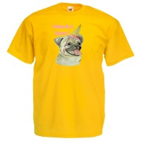 Kids Pug I wish I Was A Unicorn T-Shirt (Available in 5 colours)