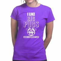 Ladies I Love Pugs & I Cannot Lie T-Shirt (Available in 17 colours)