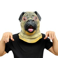 Realistic Latex Pug Mask