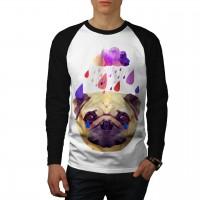 Mens Long Sleeved Pug T-Shirt