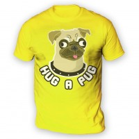 Mens Hug A Pug  T-Shirt (Available in 11 colours)