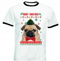 Unisex Merry Christmas Pug T-Shirt