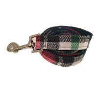 Navy & Red Checked Wagytail Lead
