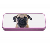 Pug Pencil Case Tin (Available in 2 colours )