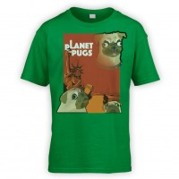 Kids Planet Of The Pugs T-Shirts (Available in 10 colours )