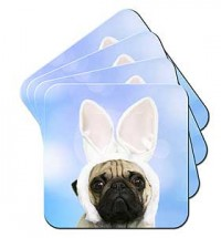 Pug Coaster Sets (Available in 10 Designs)