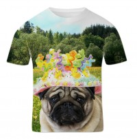 Unisex Pug Easter Bonnet T-Shirt