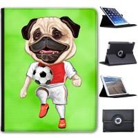 Football Character Pug Apple iPad Cover