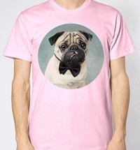 Pug In Bow Tie Unisex T-Shirt