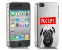 Angry Pug Life iPhone Cover