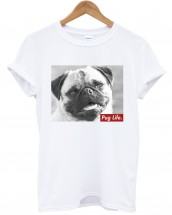 Ladies Funny Pug Life T-Shirt