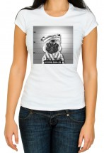 Ladies Pug Mug Shot T-Shirt