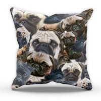 Pug Printed  Cushion