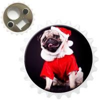 Santa Pug Magnet /Bottle Opener