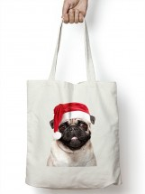 Pug Santa Tot/Shopper Bag