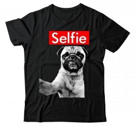 Unisex Selfie Pug T-Shirt